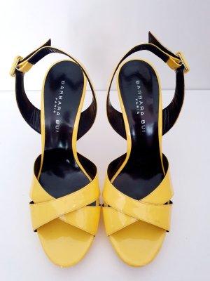 Barbara Bui Sandales à talon haut jaune cuir