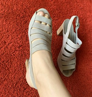 Paul Green High-Front Pumps light grey leather