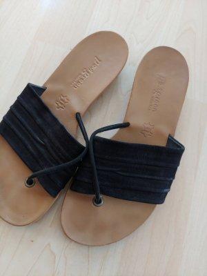 Paul Green T-Strap Sandals black