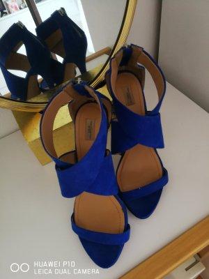 Sandaletten von Zara, Gr. 40, Royalblau