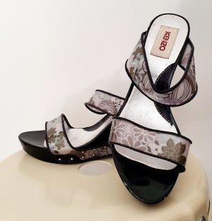 Kenzo Wedge Sandals multicolored wood