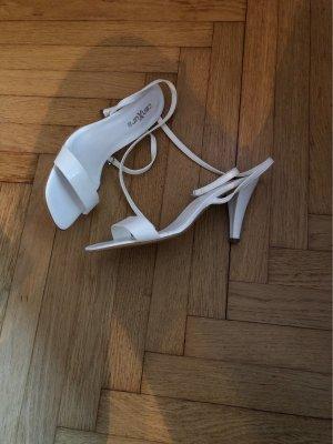 Sandalias de tiras blanco