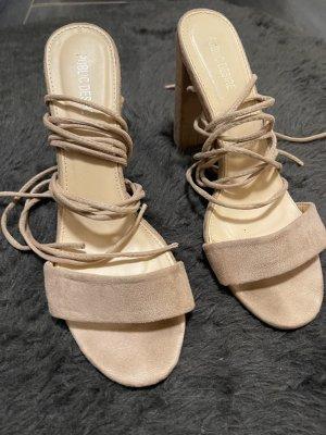 Sandaletten zum Schnüren rose 41