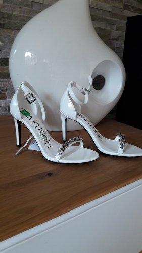 Calvin Klein Sandalo con cinturino bianco-argento