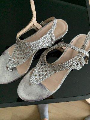 Sandallette silber