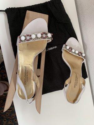 Dolce & Gabbana Sandały japonki biały