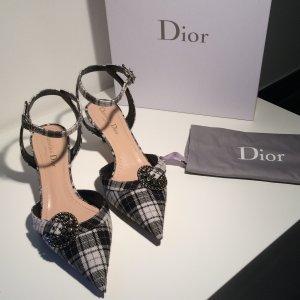 Sandals Dior Gang black + off tartan