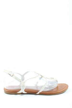 Sandalup Sandały japonki biały W stylu casual