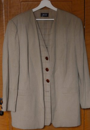 Jean Paul College Jacket sand brown wool
