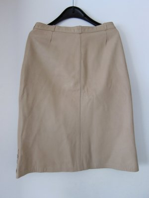 Leather Skirt oatmeal leather