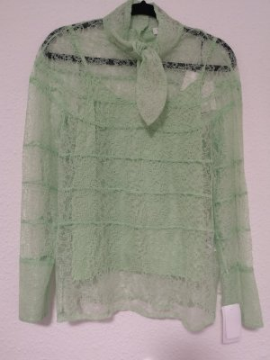 Sandor Paris Kanten blouse munt