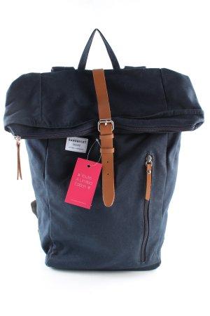 Sandqvist School Backpack blue casual look