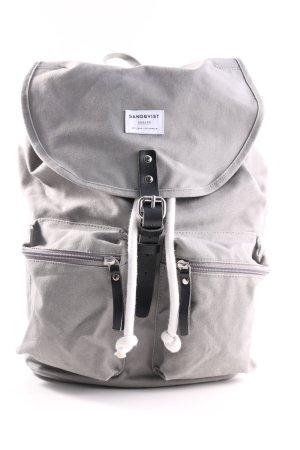 Sandqvist Sac à dos de randonnée gris clair style décontracté