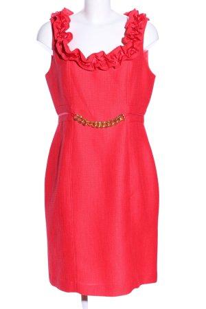 Sandra Darren Sukienka z rękawem balonowym czerwony Elegancki