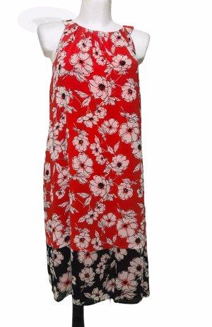 Sandra Darren Damen Sommer Biumen Kleid Rot XL