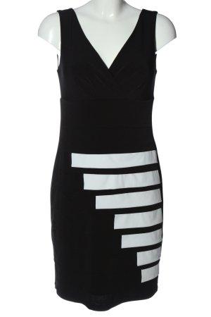Sandra Darren Etuikleid schwarz-weiß Streifenmuster Casual-Look