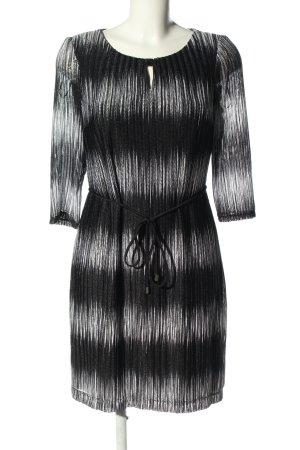 Sandra Darren Minikleid schwarz-weiß Allover-Druck Business-Look