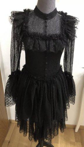 Sandra Mansour Kleid schwarz Spitze