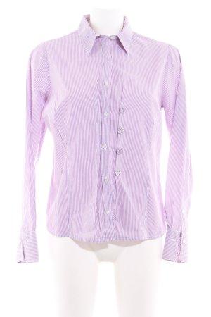Sandra Pabst Langarm-Bluse violett-weiß Streifenmuster Business-Look