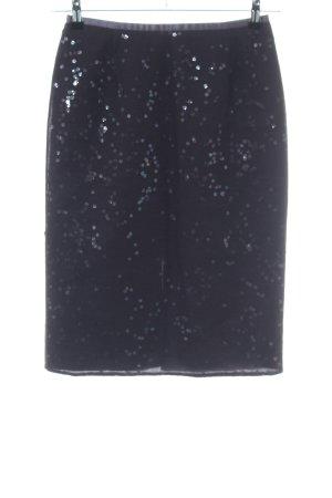 Sandra Pabst Jupe en tulle noir imprimé allover élégant