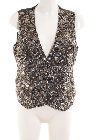 Sandra Pabst Omkeerbaar vest zwart Stras-stenen versieringen