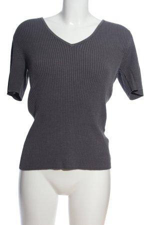 Sandrine Ribbed Shirt light grey flecked casual look