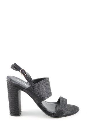 Sandrine Riemchen-Sandaletten schwarz Casual-Look