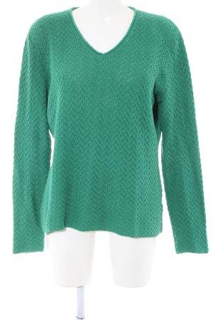 Sandrine V-Ausschnitt-Pullover grün Casual-Look