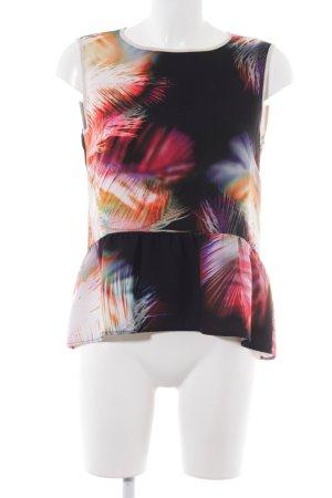 Sandro ärmellose Bluse abstraktes Muster Business-Look