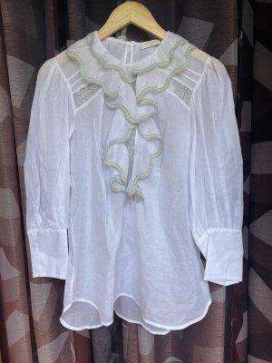Sandro Long Sleeve Blouse white