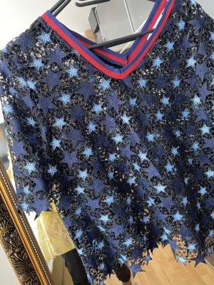 Sandro Bluse Shirt Sterne blau M