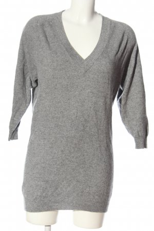 Sandro Kaszmirowy sweter jasnoszary Melanżowy W stylu casual