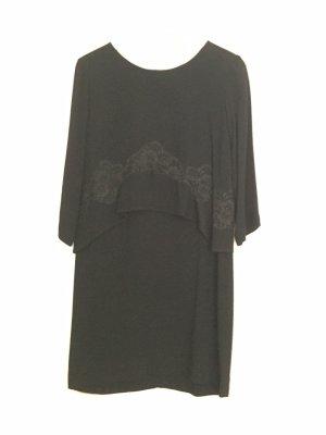 SANDRO Cocktailkleid Kleid schwarz mit Spitze lange Ärmel langärmlig - wie NEU
