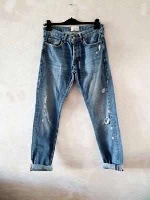 Sandro Boyfriend jeans azuur-korenblauw