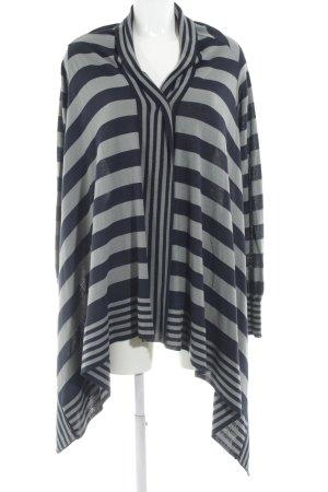 Sandro Ferrone Cardigan grigio-blu scuro motivo a righe stile professionale