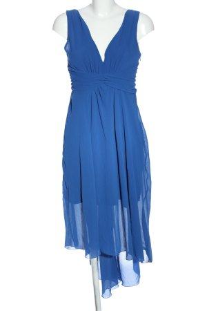 Sandro Ferrone Vestido de chifón azul elegante