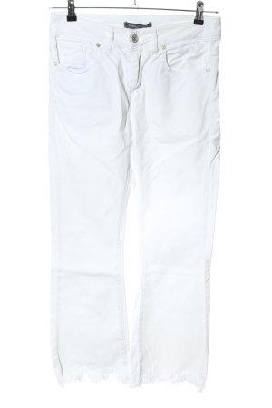 Sandro Ferrone Jeans a vita alta bianco stile casual