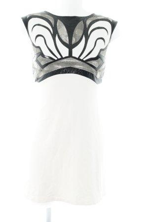 Sandro Ferrone Minikleid creme-schwarz abstraktes Muster Casual-Look