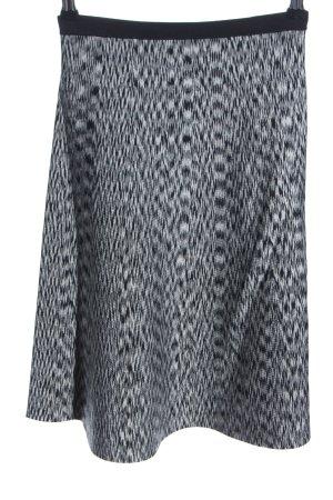 Sandro Glockenrock schwarz-weiß abstraktes Muster Casual-Look