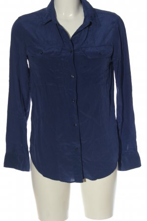 Sandro Camicia blusa blu stile professionale