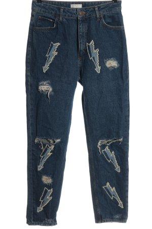 Sandro Jeans a vita alta blu stile casual
