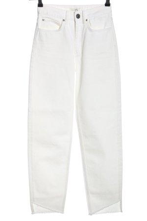 Sandro Jeans taille haute blanc style décontracté