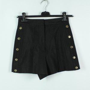 Sandro High Waist Shorts Gr. 36 schwarz seitliche Knopfleisten (20/02/308)