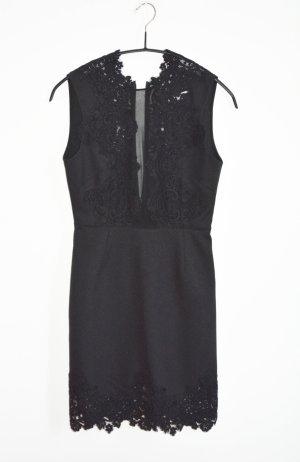 Sandro Janegenie Kleid Gr. 1 = S schwarz Spitze