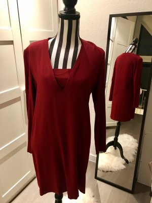 Sandro Paris T-shirt jurk bordeaux