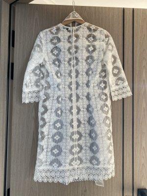 Sandro Mini Dress white-dark blue