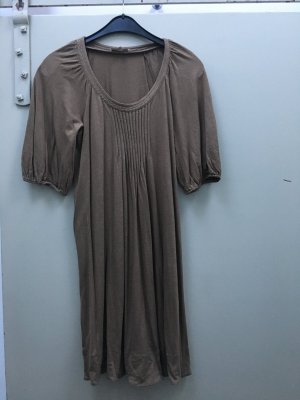 Sandro Woolen Dress grey brown-gold-colored