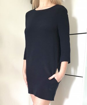 Sandro Kleid Seidenkleid 1 Gr. 34 dunkelblau Seide