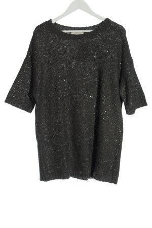 Sandro Short Sleeve Sweater black flecked casual look