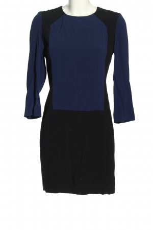 Sandro Vestido de manga larga negro-azul elegante